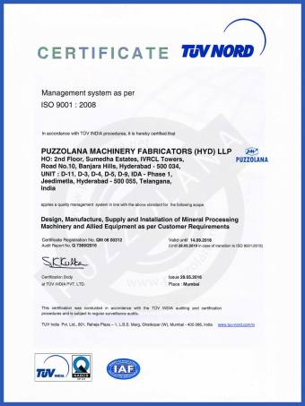 About us puzzolana machinery fabricators hyderabad llp iso certificate xflitez Images